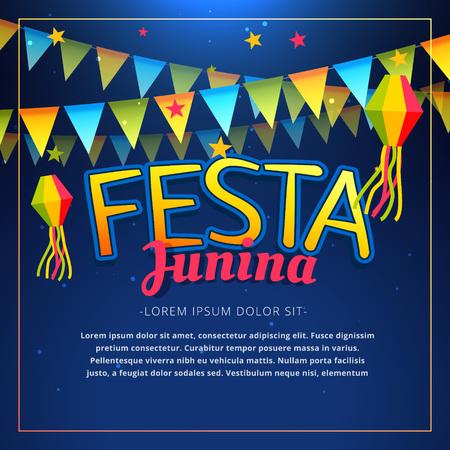 june: June Festival party poster