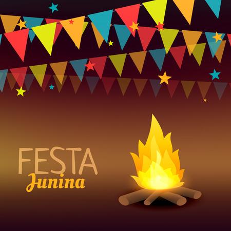 June Festival brazil holidays illustration
