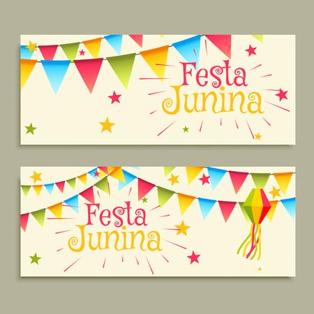 june: June Festival celebration banners