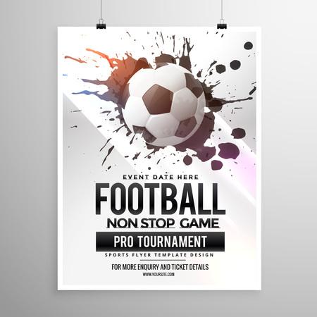 football soccer game tournament flyer brochure template Vectores
