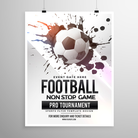 football soccer game tournament flyer brochure template Banco de Imagens - 58143570