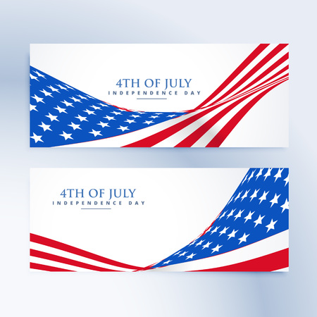 of us: american independence day 4th of july banners