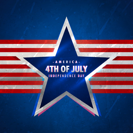 american history: 4th of july background with star and red stripes