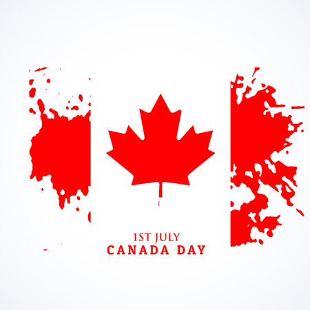 canadian flag: canadian flag in grunge style