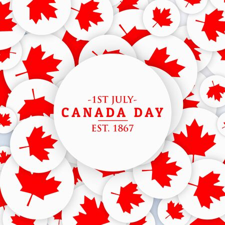 history month: 1st july canada day background