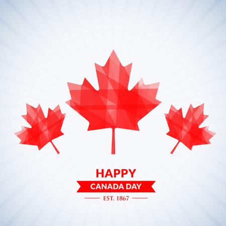 beautiful happy canada day background