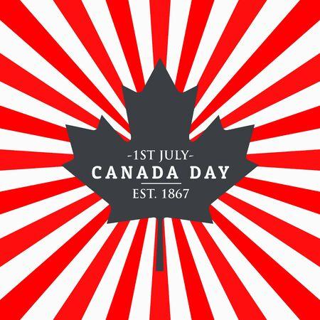 patriotism: canada day greeting background