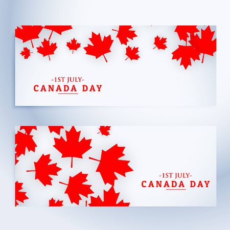 history month: 1st july canada day banners
