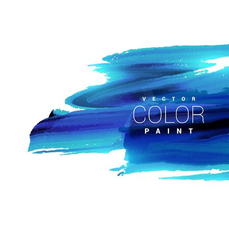 ink stain: bright blue ink paint stain vector