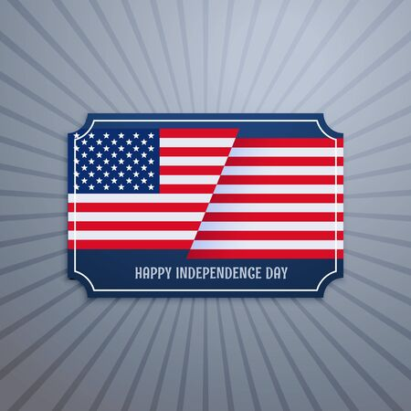 american history: american independence day badge