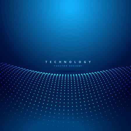 digital background: dots mesh wave digital background