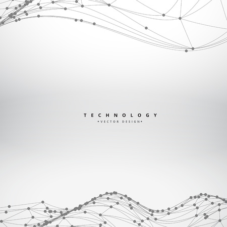 mesh flowing wave background design