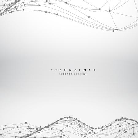 Netz Welle Hintergrund Design fließt