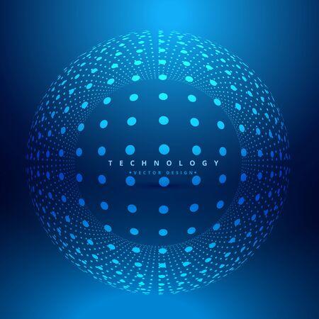 energy background: dots sphere mesh