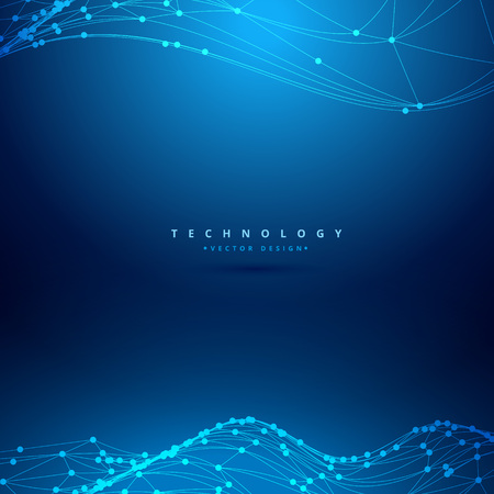 mesh: mesh wireframe wave technology background Illustration