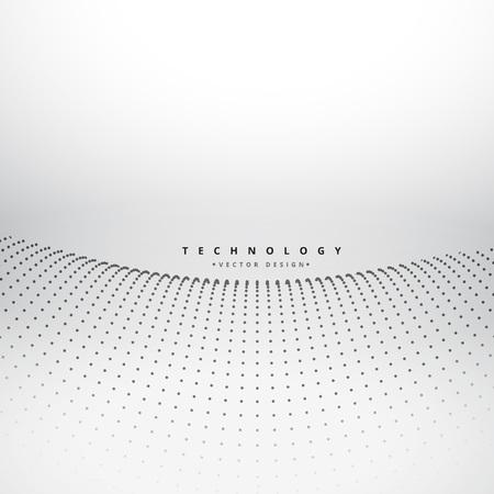 mesh: mesh dot wave background Illustration