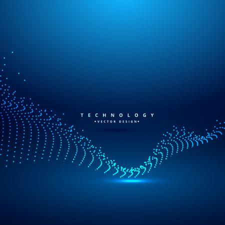 abstract digital chaos wave