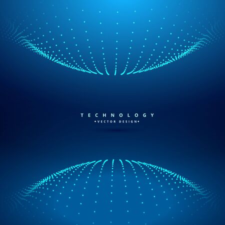 point dots sphere technology background