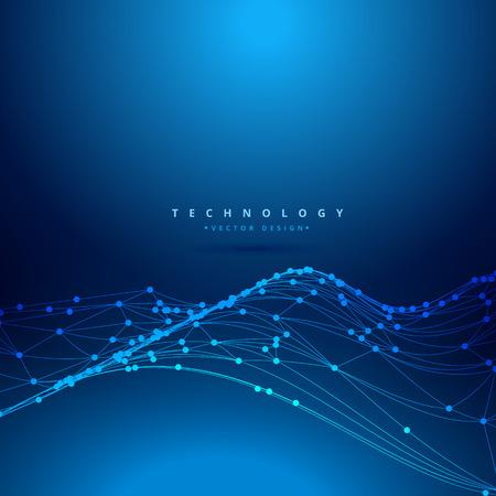 mesh: technology digital mesh wave Illustration