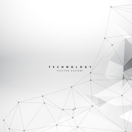 saubere geometrische Formen Technologie Hintergrund
