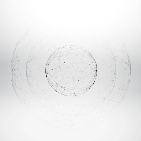 mesh: mesh wireframe sphere Illustration