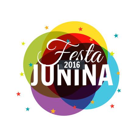 festa: colorful 2016 festa junina background Illustration