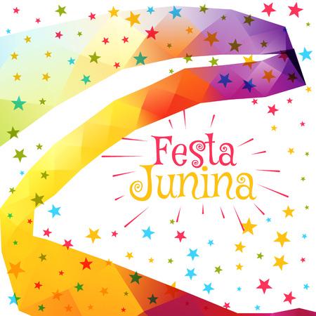 festa: festa junina celebration colorful background Illustration