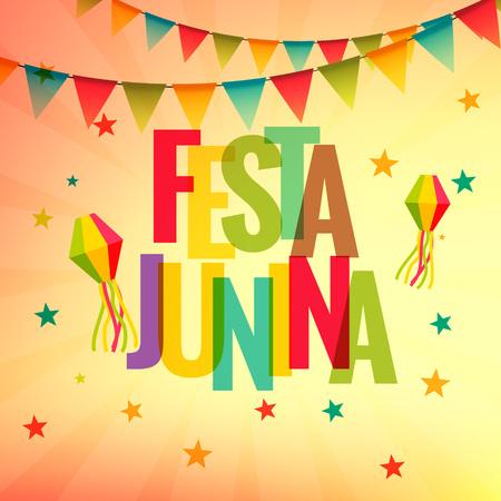 festa: festa junina celebration party background Illustration