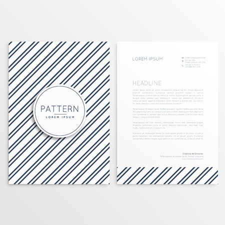 diagonal lines: company brochure with diagonal lines pattern