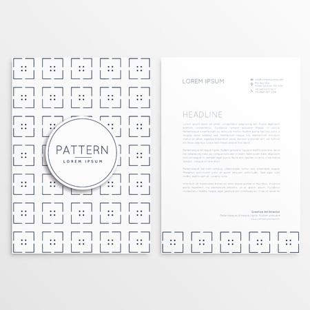 minimal: minimal brochure template design Illustration