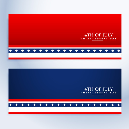 patriotic background: clean 4th of july american banners Illustration