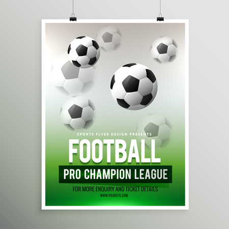 league: football pro championship league flyer template