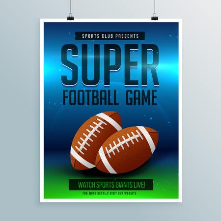 super football game flyer template Ilustração