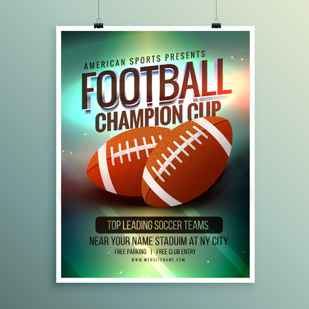 championship: rugby championship cup flyer template Illustration