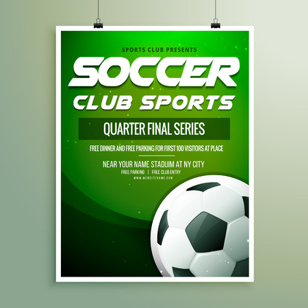 soccer club: soccer club sports championship flyer template Illustration