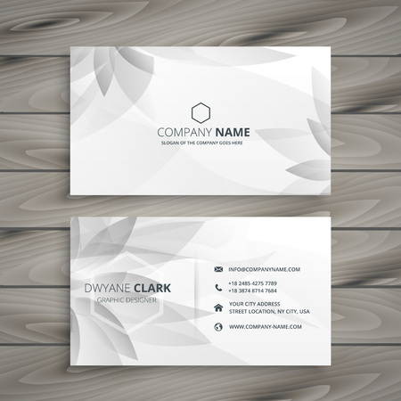 schöne graue weiße Blume Visitenkarte