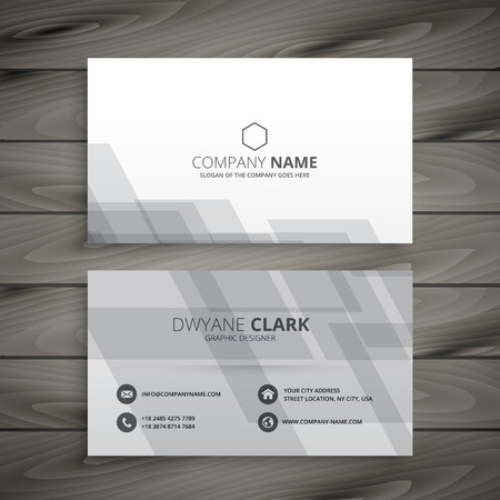 gray: gray white business card Illustration