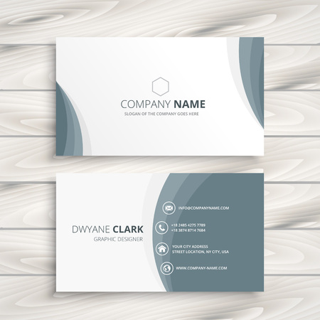 business card: clean minimal business card