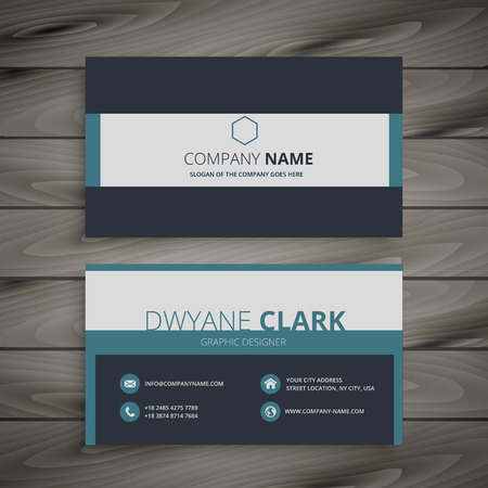 business card: elegant business card template