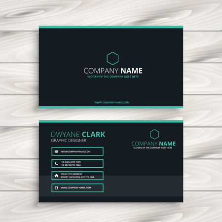 business card: dark clean business card Illustration