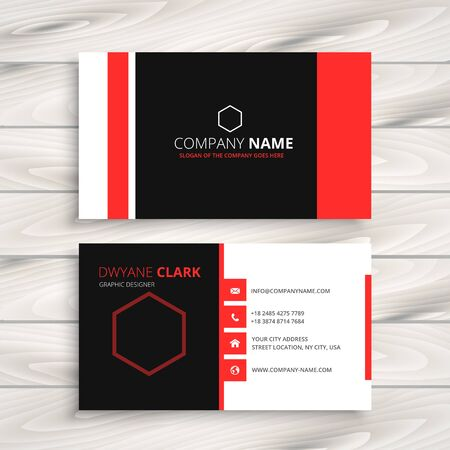 business card: moden style business card