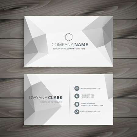 gray: gray polygonal business card