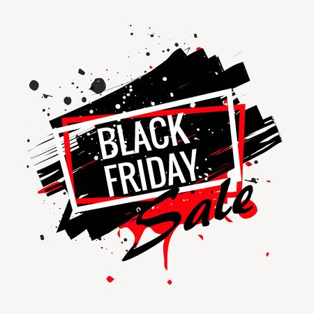 abstract black friday sale poster Vectores