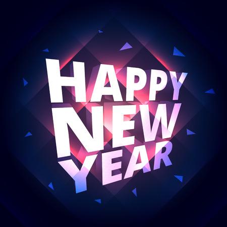 new year celebration: happy new year celebration greeting Illustration