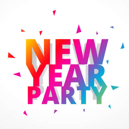 new year party: colorful happy new year party Illustration