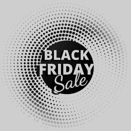 noir vente vendredi en points circulaires