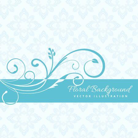 florish: blue floral background