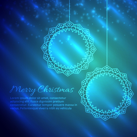 festive occasions: merry christmas design in shiny background