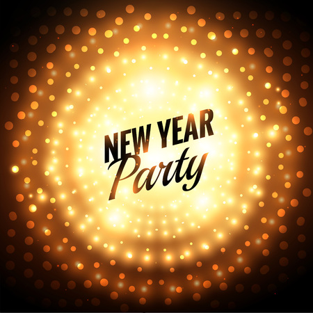 new year party: new year party greeting card