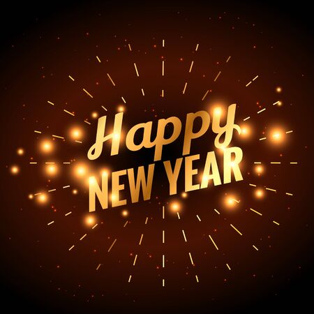 new year celebration: golden happy new year celebration